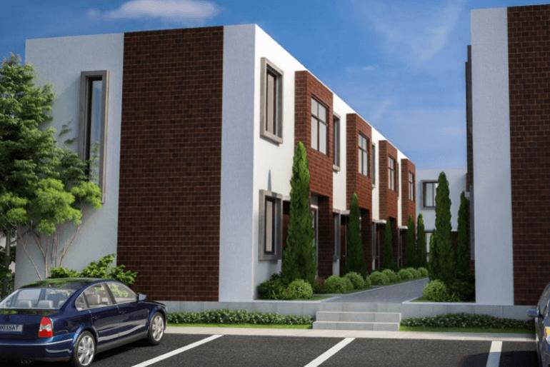 Las 156 casas del proyecto habitacional Villas de San José cuentan con jardín posterior.